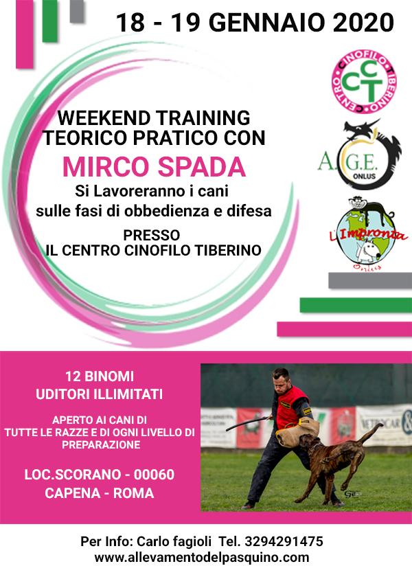 weekend training con Marco Spada
